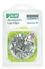 ALM Aluminium Lap Clips - Pack of 50