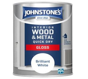 Johnstone's Quick Dry Gloss - Brilliant White - 750ml.