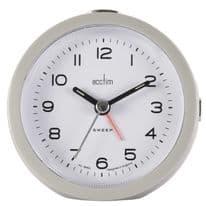 Acctim Neve Non Ticking Sweep Clock - Grey