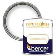 Berger Non Drip Gloss 2.5L - Pure Brilliant White