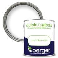 Berger Quick Dry Gloss 2.5L - Brilliant White