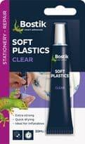 Bostik Soft Plastics Clear Adhesive - 20ml Blister