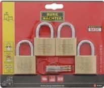 Burg-Wächter Brass Padlock Keyed Alike - 4 x 40mm