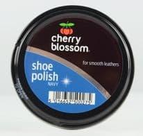 Cherry Blossom Shoe Polish - 50ml Tin Navy