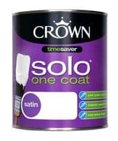 Crown Solo One Coat Satin 750ml - Pure Brilliant White