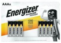 Energizer Alkaline Power Batteries - AAA Pack 8