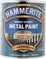 Hammerite Metal Paint Hammered 750ml - Copper