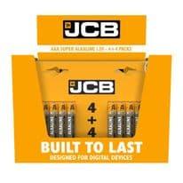 JCB Super Alkaline Batteries 4 Plus 4 - AAA