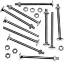 """Picardy Carriage Bolts With Hex Nuts - M6 x 2""""-M6 x 50mm   Pack of 200"""