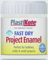 PlastiKote Fast Dry Enamel Brush On - Flat White - 59ml Bottle