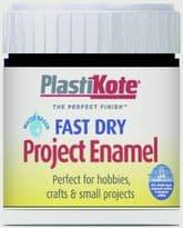 PlastiKote Fast Dry Enamel Brush On - Matt Black - 59ml Bottle