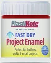 PlastiKote Fast Dry Enamel Brush On - Red Metallic - 59ml Bottle