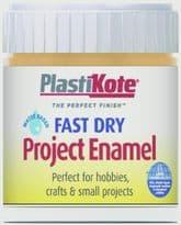 PlastiKote Fast Dry Enamel Brush On - Sunshine Yellow - 59ml Bottle