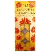 Price's Candles Tealights 10 Pack - Citronella