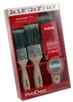 "Rodo Trojan Brush Set With FREE 2"" Woodworker - 5 piece"