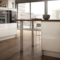 Rothley Square Worktop Leg - Brushed Nickel 870mm