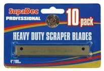 SupaDec Angled Scraper Blades - Pack of 10