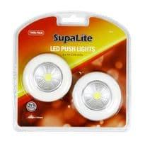 SupaLite LED Push Light - Twin Pack
