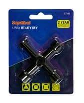 SupaTool 4 Way Utility Key