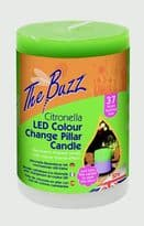 The Buzz Citronella LED Colour Changing Candle