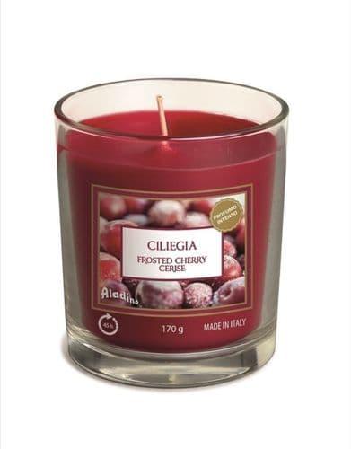 Aladino Medium Candle Jar - Frosted Cherries