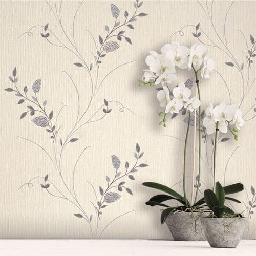 Belgravia Tilly Silver Trail 9105 Wallpaper