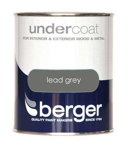 Berger Undercoat 750ml - Lead Grey