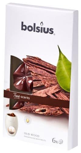 Bolsius Fragranced Wax Melts - Oud Wood Pack 6