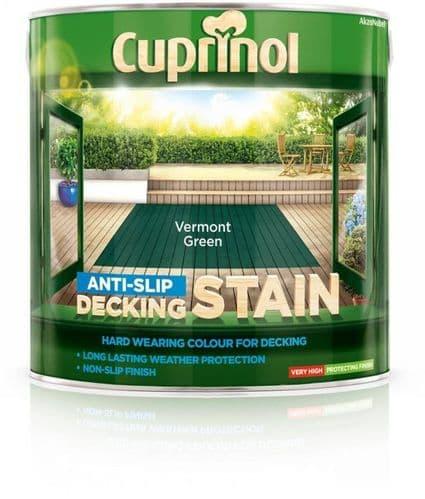 Cuprinol Anti Slip Decking Stain 2.5L - Vermont Green