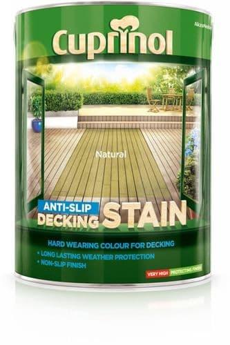 Cuprinol Anti Slip Decking Stain 5L - Natural