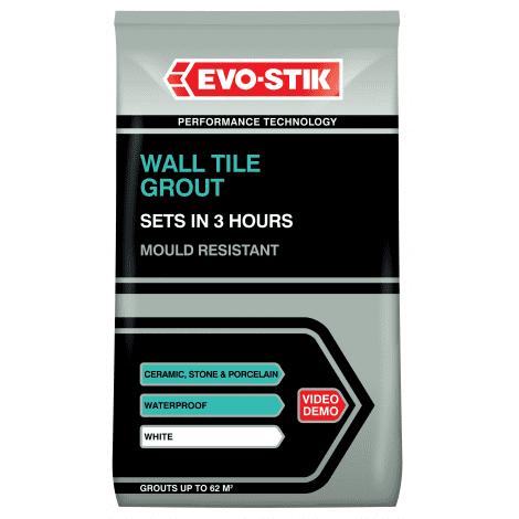 Evo-Stik Wall Tile Grout Powder (Select Size)