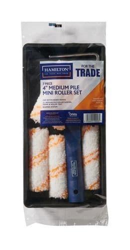 "Hamilton For The Trade Medium Pile Mini Roller Set 4"" - 7 Piece"