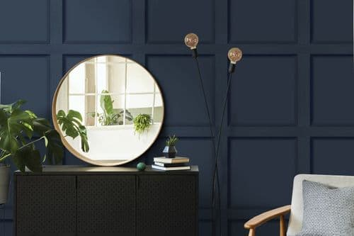 Holden Decor Modern Wood Panel Navy Blue 12980 Wallpaper
