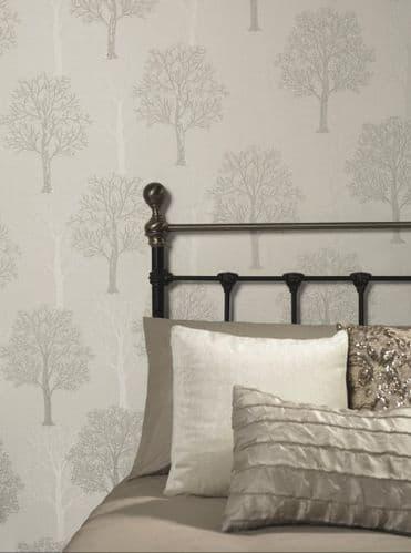 Holden Decor Ornella Tree Grey 35253 Wallpaper