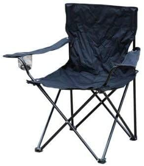 Kingfisher Folding Camping/ Fishing/ Picnic Chair With Cup Holder - Black