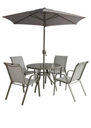 Pagoda Capri 4 Seater Garden Furniture Dining Set