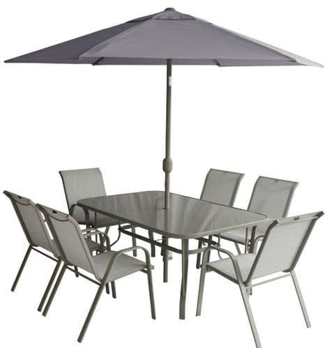 Pagoda Capri 6 Seat Garden Furniture Dining Set