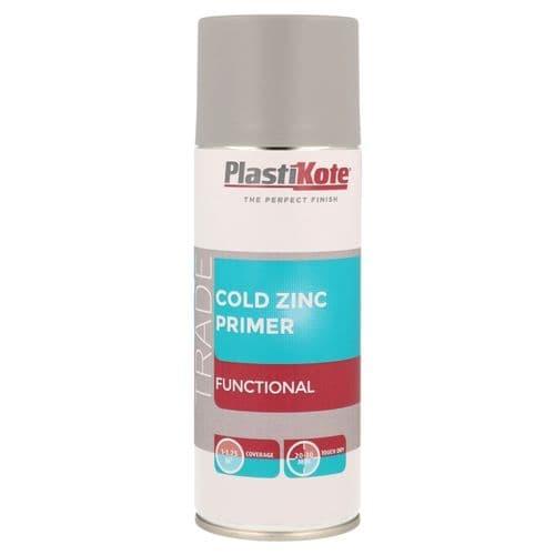 PlastiKote Cold Zinc Primer Spray - 400ml