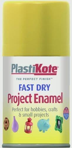 PlastiKote Fast Dry Enamel Aerosol Paint - Buttercup Yellow -100ml