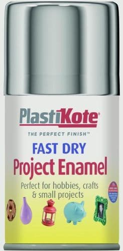 PlastiKote Fast Dry Enamel Aerosol Paint - Chrome - 100ml