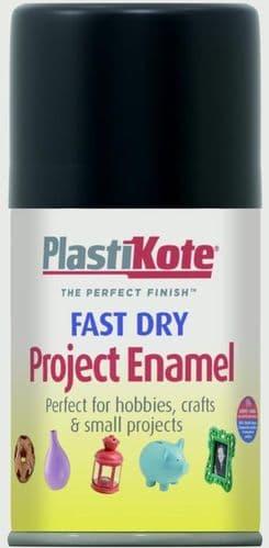 PlastiKote Fast Dry Enamel Aerosol Paint - Flat Black - 100ml