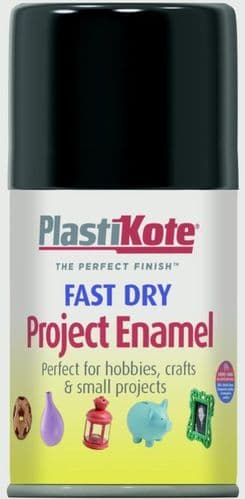 PlastiKote Fast Dry Enamel Aerosol Paint - Gloss Black - 100ml
