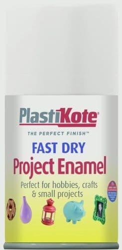 PlastiKote Fast Dry Enamel Aerosol Paint - Gloss White - 100ml