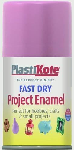 PlastiKote Fast Dry Enamel Aerosol Paint - Hot Pink - 100ml