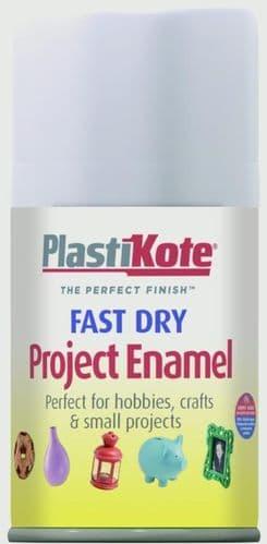PlastiKote Fast Dry Enamel Aerosol Paint - Matt White - 100ml