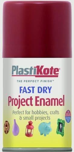PlastiKote Fast Dry Enamel Aerosol Paint - Metallic Red - 100ml