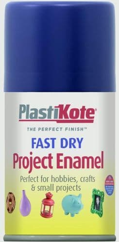 PlastiKote Fast Dry Enamel Aerosol Paint - Night Blue - 100ml