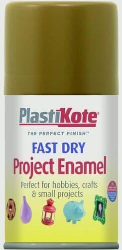 PlastiKote Fast Dry Enamel Aerosol Paint - Nut Brown - 100ml