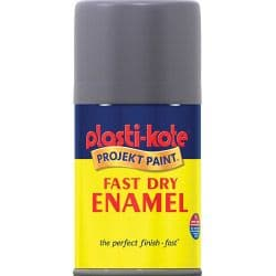 PlastiKote Fast Dry Enamel Aerosol Paint - Pewter - 100ml