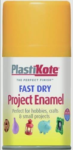 PlastiKote Fast Dry Enamel Aerosol Paint - Sunshine Yellow - 100ml